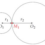 Aire entre trois cercles tangents