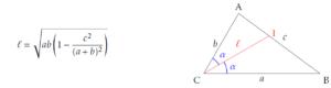Longueur d'une bissectrice dans un triangle