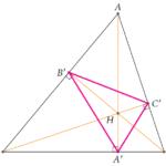 Triangle orthique et problème de Fagnano