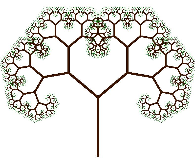 python turtle arbre fractal