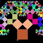 Python, turtle et un arbre de Pythagore