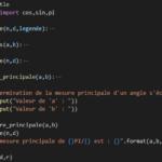 Mesure principale d'un angle avec Python