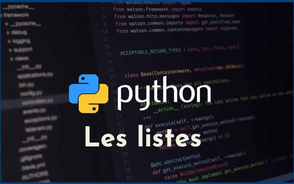 Les listes en Python