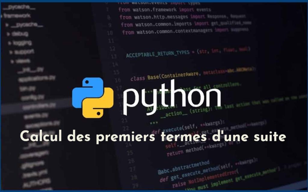 Calcul des premiers termes d'une suite avec Python