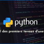 Python : calcul des premiers termes d'une suite