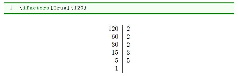 Exemple d'utilisation de pythontex-tools avec la décomposition en facteurs premiers