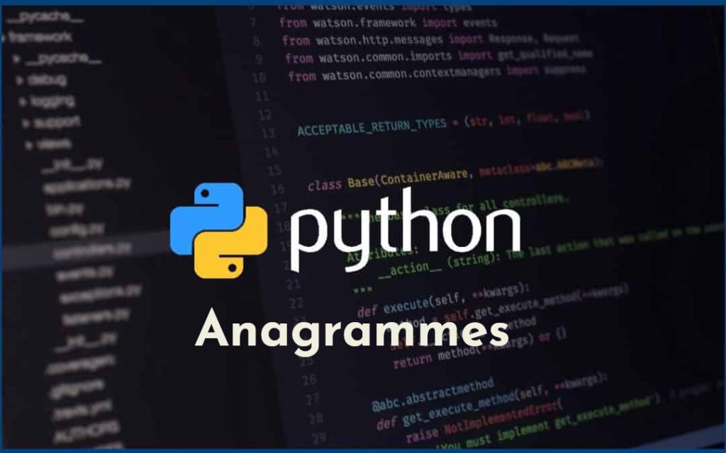 anagrammes en Python