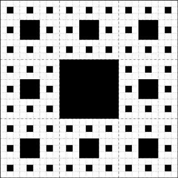 tapis de sierpinsky : étape 3