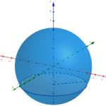 Pourquoi le volume d'une sphère est égal à \(\frac{4}{3}\pi r^3\) ? Explications avec les intégrales