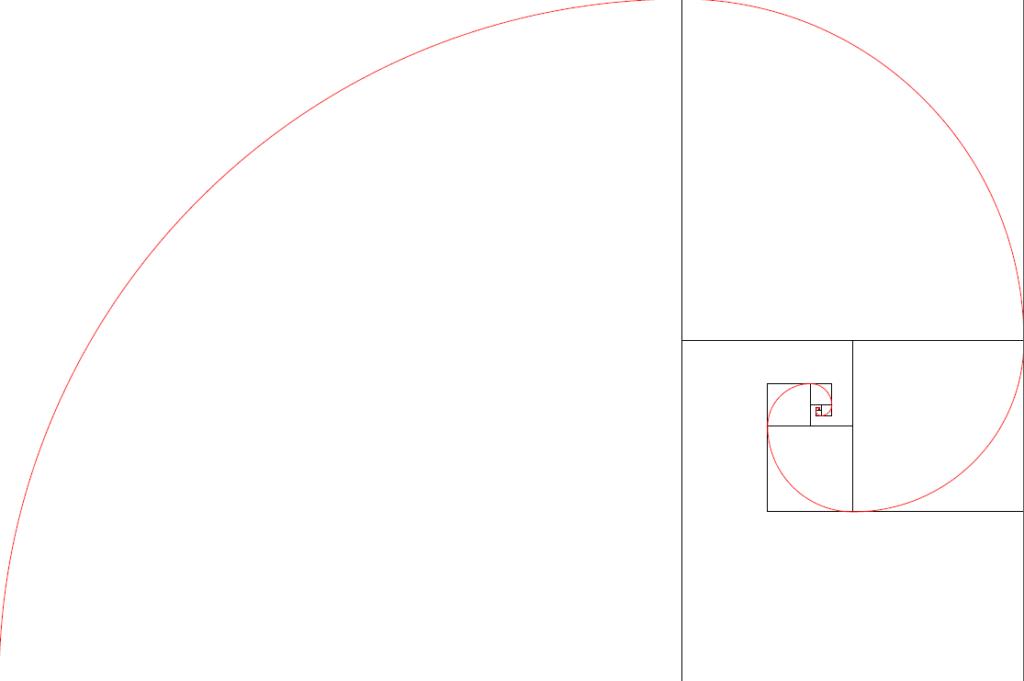 Spirale et carrés, TiKZ et Python