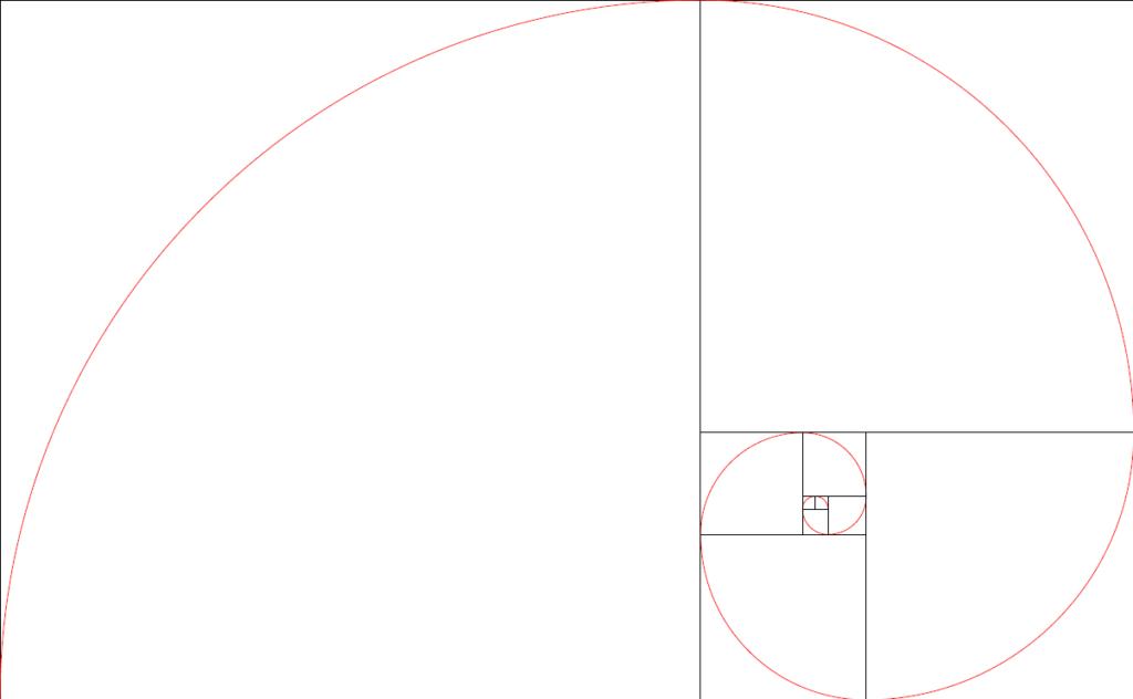 spirale d'or (spirale de Fibonacci)