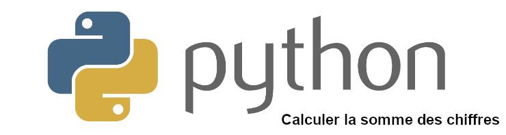 Python somme des chiffres d'un nombre