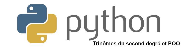 trinomes second degré python poo