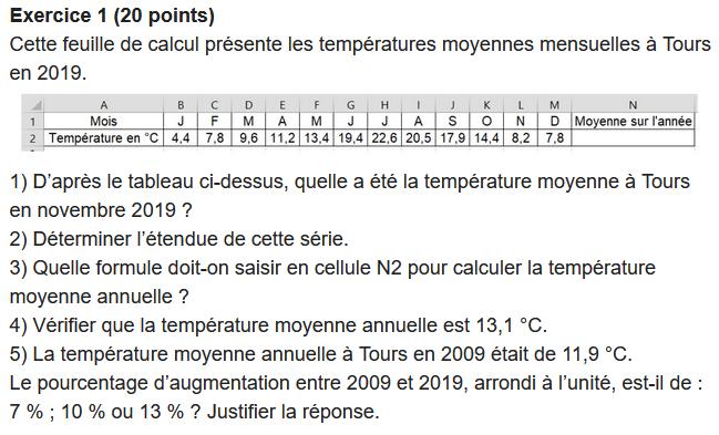 taux évolution température