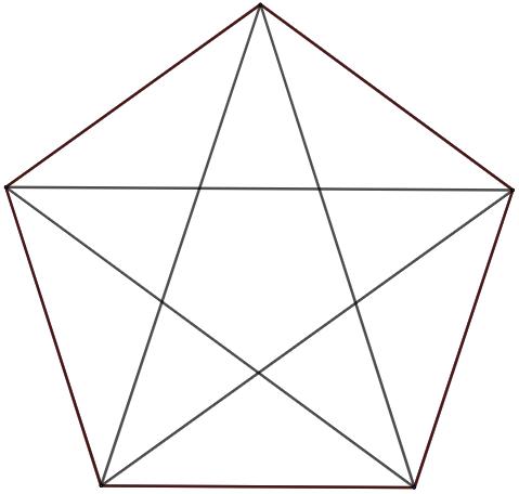 suite polygones réguliers pentagone